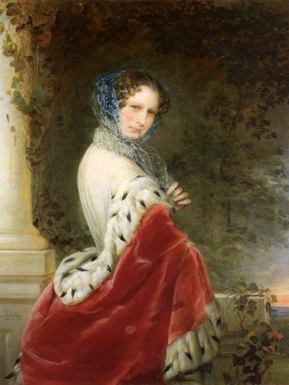 Portrait of Empress Alexandra Fyodorovna (Charlotte of Prussi), Emperor's Nicholas I Wife-Christina Robertson-Giclee Print