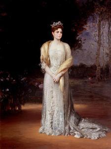 Portrait of Empress Alexandra Fyodorovna of Russia (1872-1918), the Wife of Tsar Nicholas II