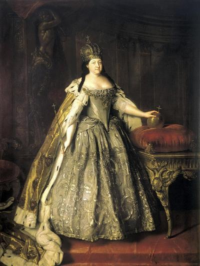 Portrait of Empress Anna Ioannovna, (1693-174), 1730-Louis Caravaque-Giclee Print