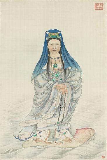 Portrait of Empress Dowager Cixi as Guanyin--Giclee Print