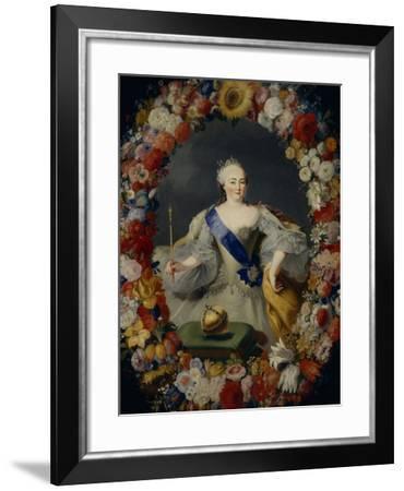 Portrait of Empress Elisabeth, 1754-Georg Kaspar von Prenner-Framed Giclee Print