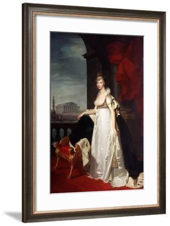 Portrait of Empress Elizabeth Alexeievna, 1805-Jean Laurent Monnier-Framed Giclee Print