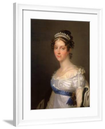 Portrait of Empress Elizabeth Alexeievna, Princess Louise of Baden (1779-182), after 1806--Framed Giclee Print