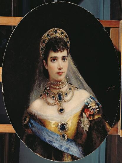 Portrait of Empress Maria Fyodorovna (1847-1928) Dagmar of Denmark-Konstantin Egorovich Makovsky-Giclee Print