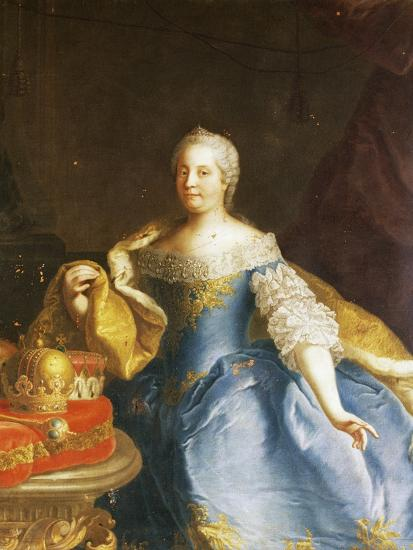 Portrait of Empress Maria Theresa of Austria (Vienna, 1717-1780)-Martin Van Mytens II-Photographic Print