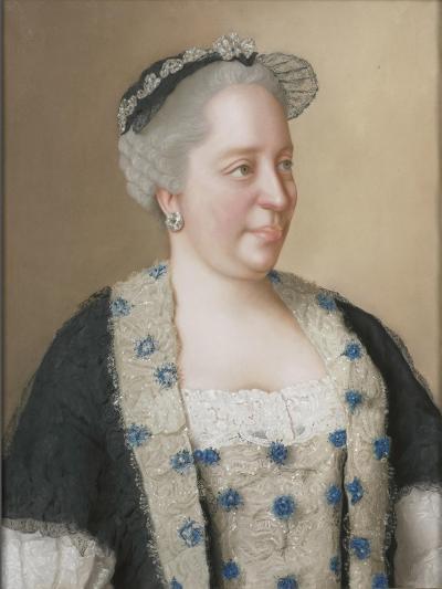 Portrait of Empress Maria Theresia of Austria (1717-178), 1762-Jean-?tienne Liotard-Giclee Print