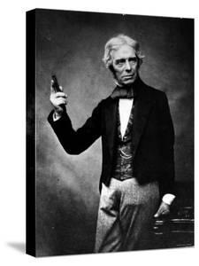 Portrait of English Physicist and Chemist Michael Faraday