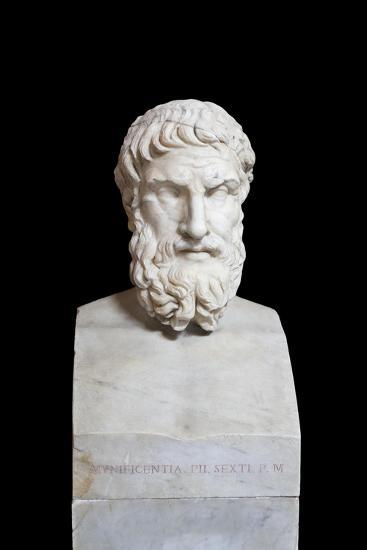 Portrait of Epicurus, Second Century Ad, Vatican Museums, Rome, Italy--Giclee Print