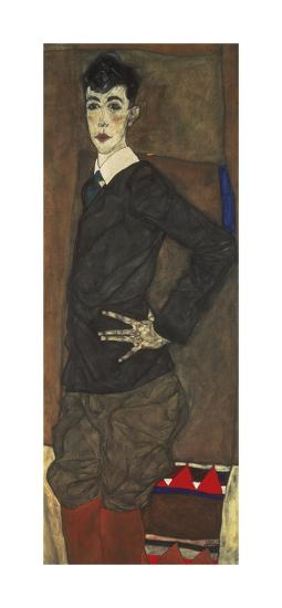 Portrait of Erich Lederer-Egon Schiele-Premium Giclee Print