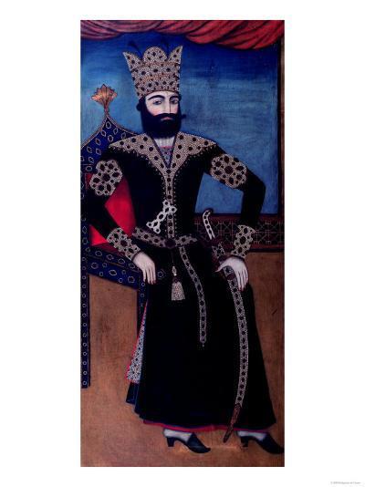 Portrait of Fath-Ali, Shah of Iran (Reigned 1797-1834)--Giclee Print