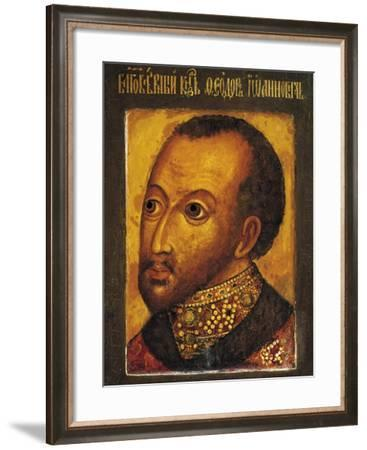 Portrait of Feodor I of Russia--Framed Giclee Print