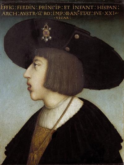 Portrait of Ferdinand I by Hans Maler Zu Schwaz--Giclee Print