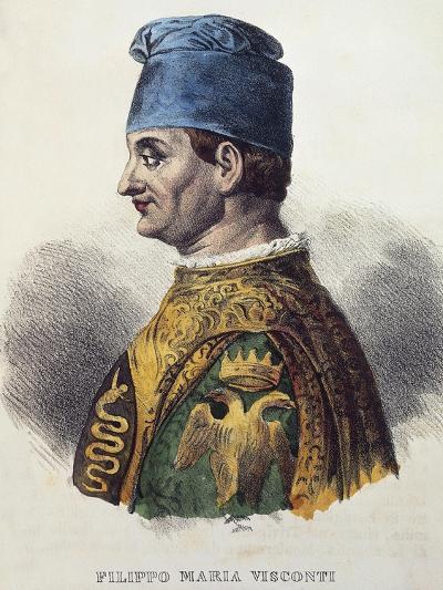 Portrait of Filippo Maria Visconti--Giclee Print