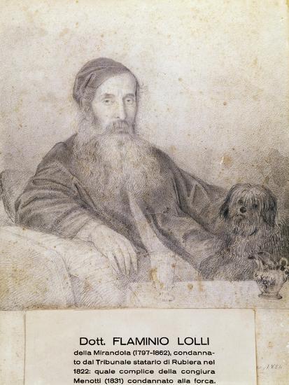 Portrait of Flaminio Lolli Della Mirandola, Involved in Menotti Conspiracy, 1831--Giclee Print