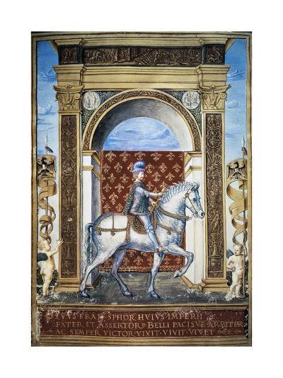 Portrait of Francesco Sforza on Horseback--Giclee Print