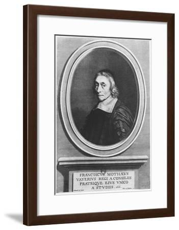 Portrait of François De La Mothe Le Vayer-Robert Nanteuil-Framed Giclee Print