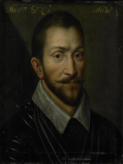 Portrait of Francois De La Noue, Seigneur De Teligny, Surnamed Bras De Fer and Le Bayard Huguenot--Art Print