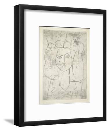 Portrait of Francoise, dressed...-Pablo Picasso-Framed Art Print