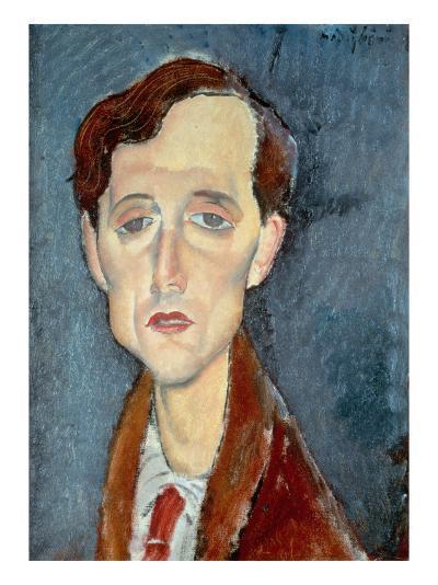 Portrait of Franz Hellens, 1919-Amedeo Modigliani-Giclee Print