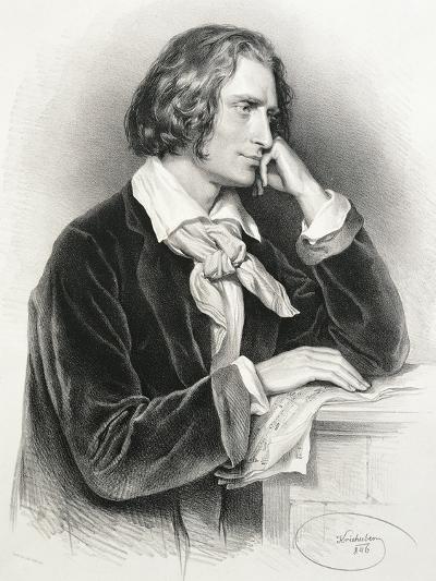 Portrait of Franz Liszt--Giclee Print
