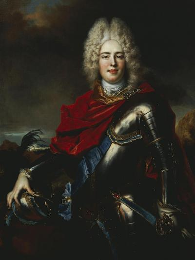 Portrait of Frederick Augustus II of Saxony (1696-1763), Later King Augustus III of Poland-Nicolas De Largilliere-Giclee Print