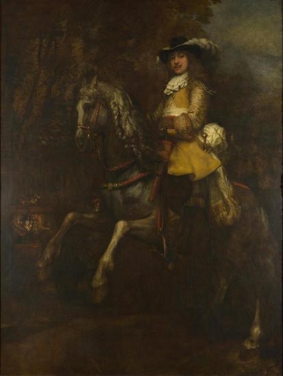 Portrait of Frederick Rihel on Horseback, Ca 1663-Rembrandt van Rijn-Giclee Print