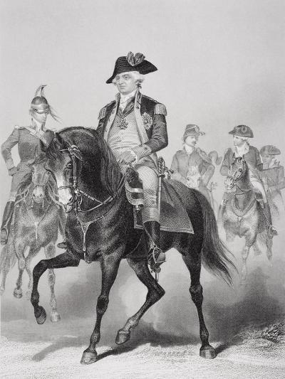 Portrait of Frederick William (1730-94) Baron Von Steuben-Alonzo Chappel-Giclee Print