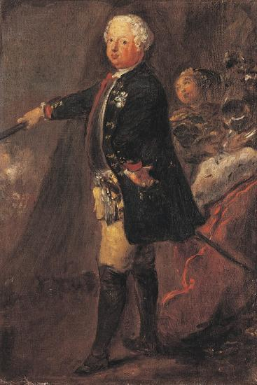 Portrait of Frederick William I of Prussia--Giclee Print