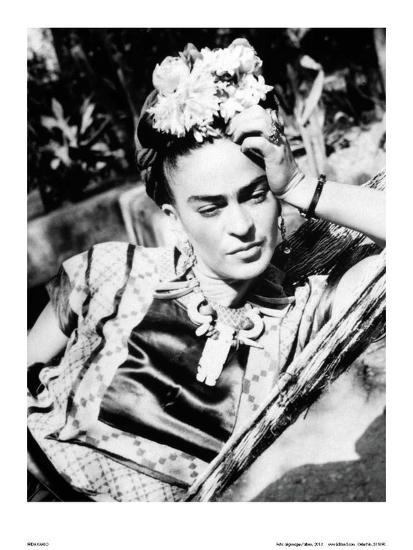 Portrait of Frida Kahlo--Art Print