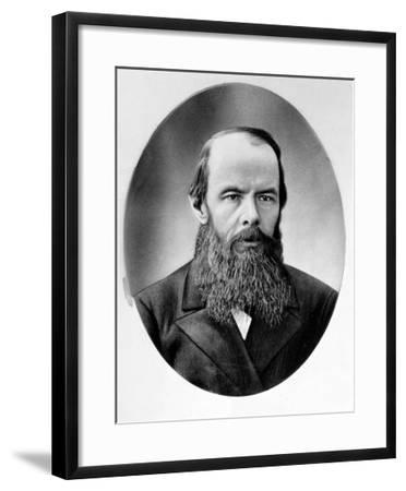 Portrait of Fyodor Mikhailovich Dostoyevsky (1821-81)--Framed Giclee Print