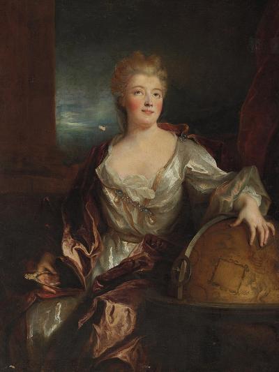 Portrait of Gabrielle Emilie Le Tonnelier De Breteuil, Marquise Du Chatelet-Nicolas de Largilliere-Giclee Print