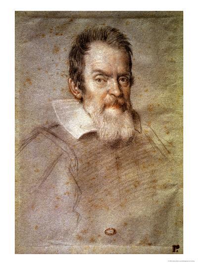 Portrait of Galileo Galilei (1564-1642) Astronomer and Physicist-Ottavio Mario Leoni-Giclee Print