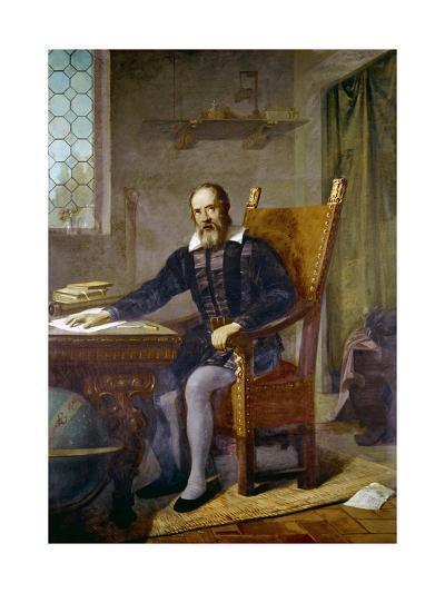 Portrait of Galileo Galilei-Stefano Bianchetti-Giclee Print