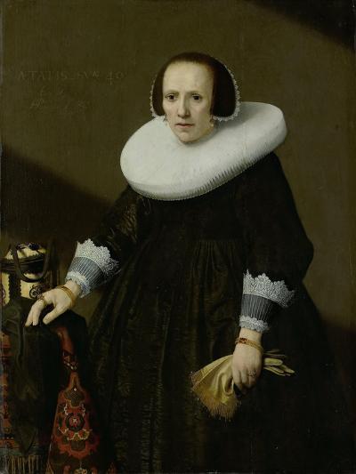 Portrait of Geertruyd Reael, Wife of Philips Denijs-Huygh Pietersz Voskuyl-Art Print