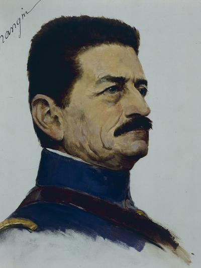 Portrait of General Mangin, Commander of Tenth Army, World War I, France--Giclee Print