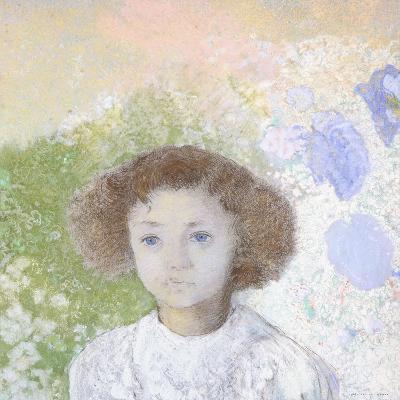 Portrait of Genevieve De Gonet as a Child, 1907-Odilon Redon-Giclee Print
