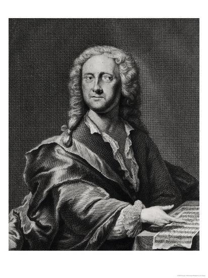 Portrait of Georg Philipp Telemann (1681-1757)-Georg Lichtensteger-Giclee Print