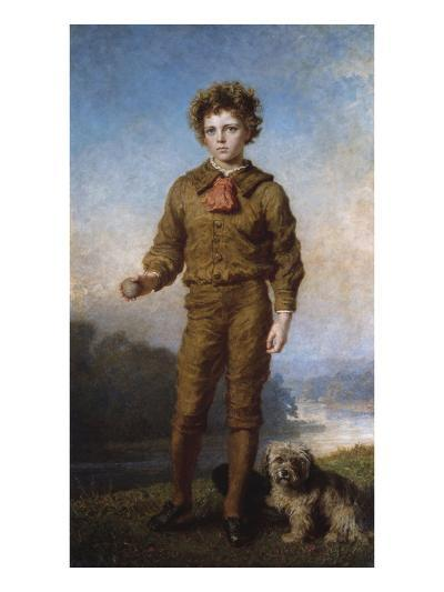 Portrait of George a Paley in the Park at Ampton, Suffolk-Carl Wilhelm Friedrich Bauerle-Giclee Print