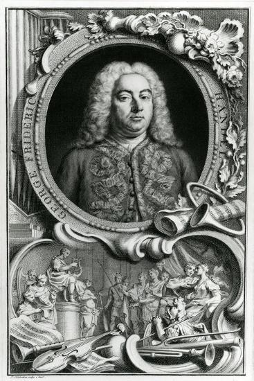 Portrait of George Frederick Handel, 1768-Jacobus Houbraken-Giclee Print
