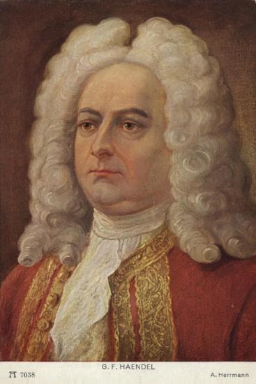 Portrait of George Friedrich Handel--Giclee Print