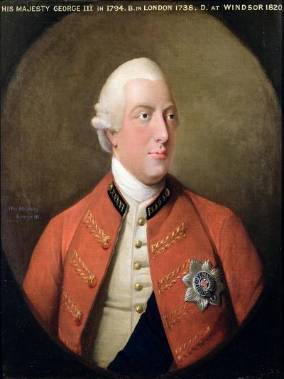 Portrait of George III (1738-1820) 1794-David Dodd-Giclee Print