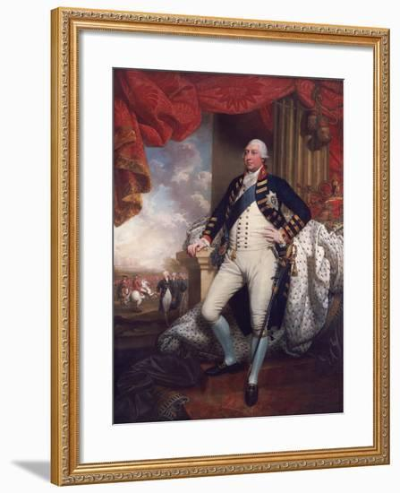 Portrait of George III, 1790-Mather Brown-Framed Giclee Print