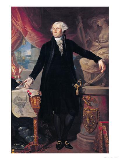 Portrait of George Washington (1732-99) 1796-Jose Perovani-Giclee Print