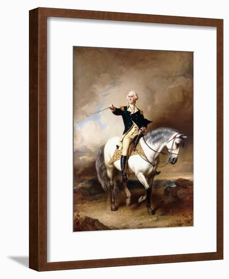 Portrait of George Washington Taking the Salute at Trenton-John Faed-Framed Giclee Print