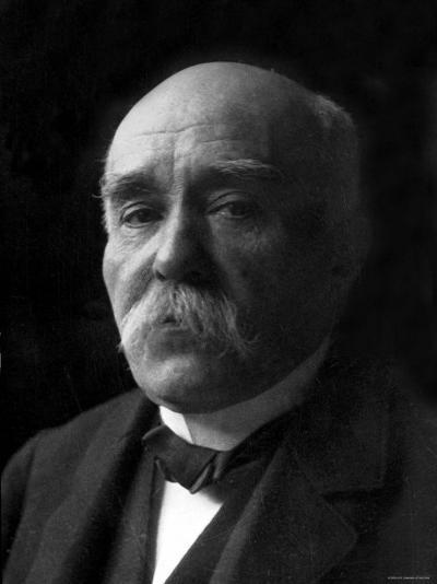 Portrait of Georges Clemenceau and Major Contributor to the Allied Victory in World War I--Premium Photographic Print