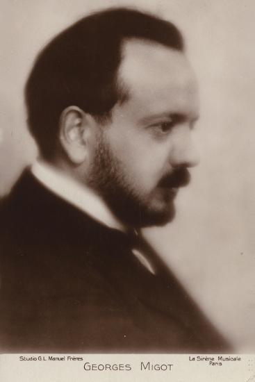 Portrait of Georges Migot--Photographic Print