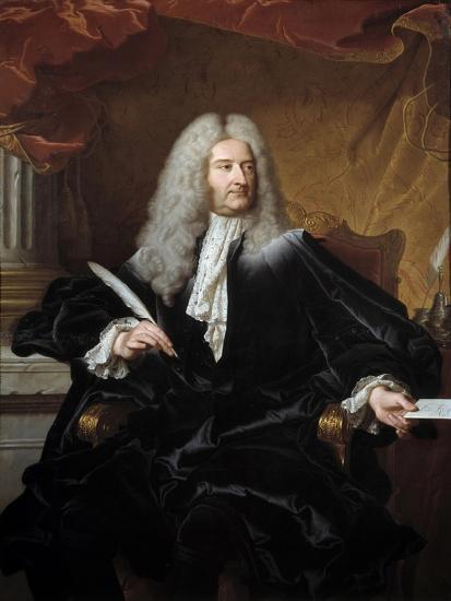 Portrait of Germain Louis De Chauvelin by Hyacinthe Rigaud--Giclee Print
