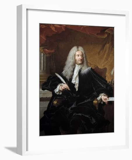 Portrait of Germain Louis De Chauvelin by Hyacinthe Rigaud--Framed Giclee Print