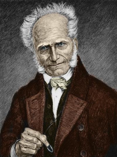 Portrait of German Philosopher Arthur Schopenhauer--Giclee Print