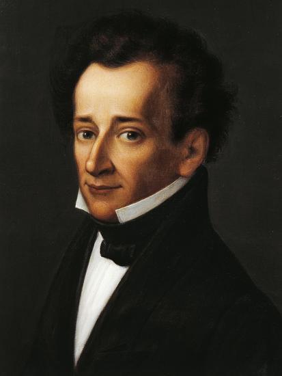 Portrait of Giacomo Leopardi--Giclee Print